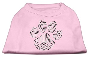 Green Paw Rhinestud Shirts Light Pink XXXL(20)