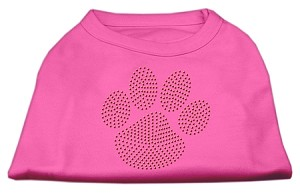 Orange Paw Rhinestud Shirts Bright Pink S (10)