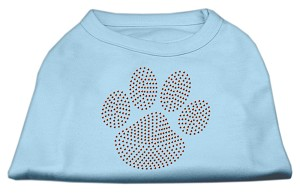 Orange Paw Rhinestud Shirts Baby Blue XS (8)