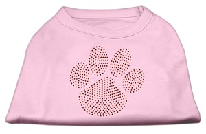 Orange Paw Rhinestud Shirts Light Pink XXL (18)