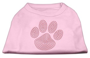 Red Paw Rhinestud Shirts Light Pink S (10)