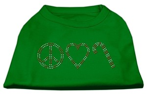 Peace, Love, and Candy Canes Shirts Emerald Green XS (8)