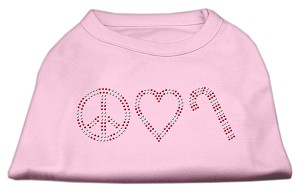Peace, Love, and Candy Canes Shirts Light Pink M (12)