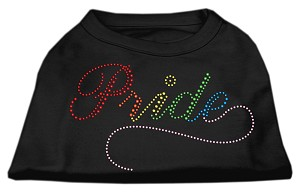 Rainbow Pride Rhinestone Shirts Black XL (16)