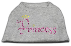 Princess Rhinestone Shirts Grey M (12)