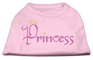 Princess Rhinestone Shirts Light Pink XXL (18)
