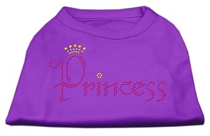 Princess Rhinestone Shirts Purple XS (8)