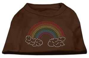 Rhinestone Rainbow Shirts Brown XS (8)