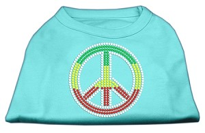 Rasta Peace Sign Shirts Aqua L (14)