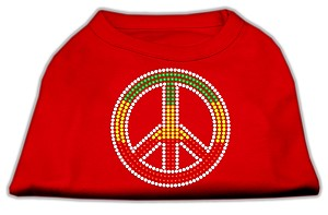 Rasta Peace Sign Shirts Red XXL (18)