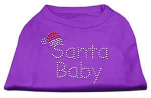 Santa Baby Rhinestone Shirts Purple XL (16)