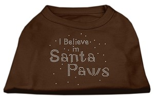 I Believe in Santa Paws Shirt Brown Sm (10)