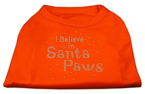 I Believe in Santa Paws Shirt Orange XXL (18)