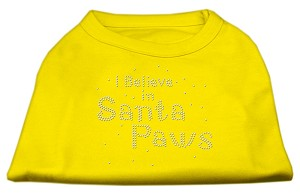 I Believe in Santa Paws Shirt Yellow Lg (14)