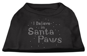 I Believe in Santa Paws Shirt Black L (14)