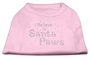 I Believe in Santa Paws Shirt Light Pink S (10)