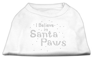 I Believe in Santa Paws Shirt White S (10)
