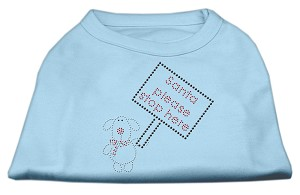 Santa Stop Here Shirts Baby Blue XL (16)