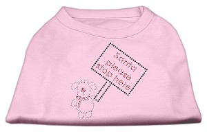 Santa Stop Here Shirts Light Pink XS (8)