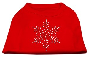 Snowflake Rhinestone Shirt Red XL (16)