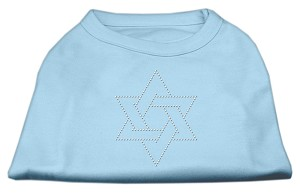 Star of David Rhinestone Shirt  Baby Blue S (10)
