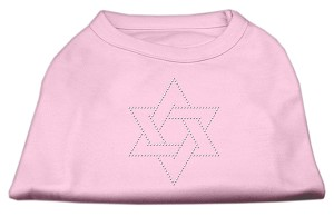 Star of David Rhinestone Shirt  Light Pink L (14)