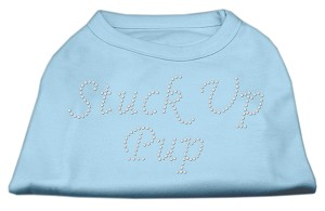 Stuck Up Pup Rhinestone Shirts Baby Blue M (12)