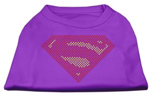 Super! Rhinestone Shirts Purple S (10)