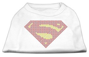 Super! Rhinestone Shirts White XXL (18)
