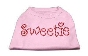 Sweetie Rhinestone Shirts Light Pink XL (16)