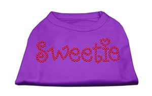 Sweetie Rhinestone Shirts Purple S (10)