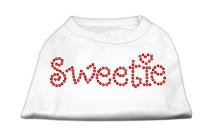 Sweetie Rhinestone Shirts White S (10)