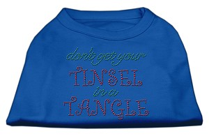 Tinsel in a Tangle Rhinestone Dog Shirt Blue Med (12)