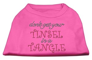Tinsel in a Tangle Rhinestone Dog Shirt Bright Pink XS (8)