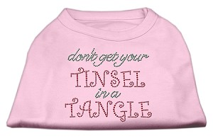 Tinsel in a Tangle Rhinestone Dog Shirt Light Pink XS (8)