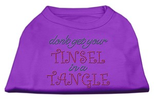 Tinsel in a Tangle Rhinestone Dog Shirt Purple Med (12)