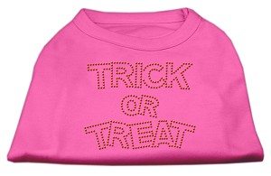 Trick or Treat Rhinestone Shirts Bright Pink XXL (18)
