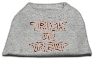 Trick or Treat Rhinestone Shirts Grey XXL (18)