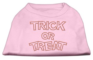 Trick or Treat Rhinestone Shirts Light Pink XXL (18)