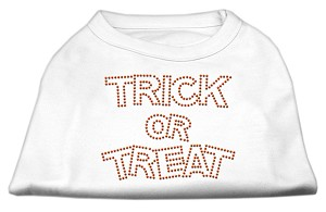 Trick or Treat Rhinestone Shirts White XL (16)