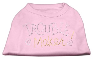 Trouble Maker Rhinestone Shirts Light Pink XS (8)