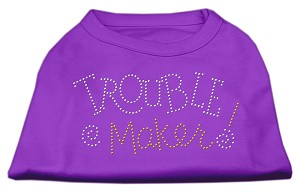 Trouble Maker Rhinestone Shirts Purple XL (16)