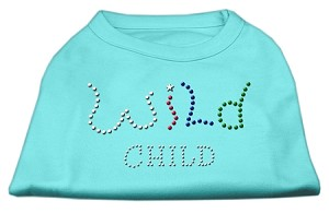 Wild Child Rhinestone Shirts Aqua L (14)