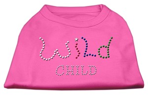 Wild Child Rhinestone Shirts Bright Pink S (10)