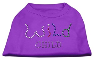 Wild Child Rhinestone Shirts Purple XL (16)