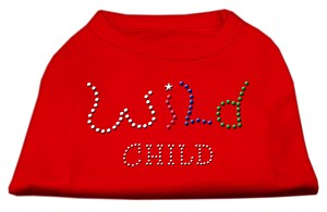 Wild Child Rhinestone Shirts Red XXXL(20)
