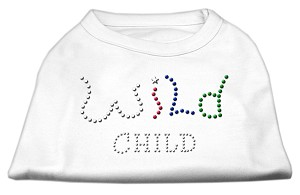 Wild Child Rhinestone Shirts White L (14)
