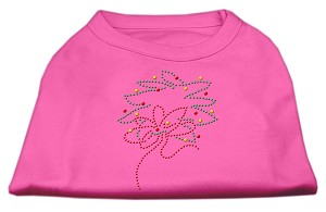 Christmas Wreath Rhinestone Shirt Bright Pink M (12)