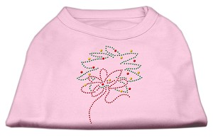 Christmas Wreath Rhinestone Shirt Light Pink L (14)