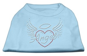 Angel Heart Rhinestone Dog Shirt Baby Blue XXXL (20)